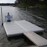 Badflotte med landgång